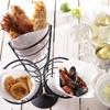 Stojak do serwowania frytek i przekąsek potrójny - Hendi 630921