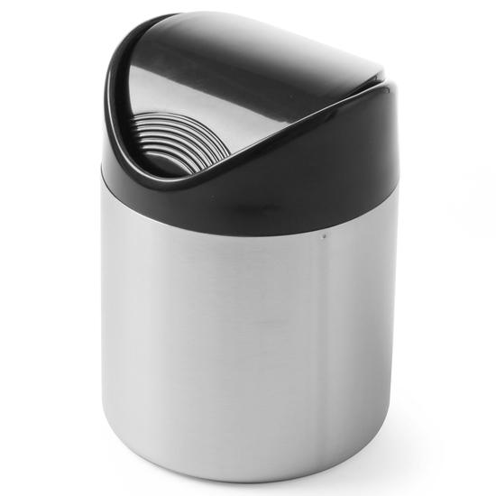 Śmietniczka stołowa pojemnik na stół na odpadki pokrywa uchylna śr. 120mm stal nierdzewna - Hendi 440704