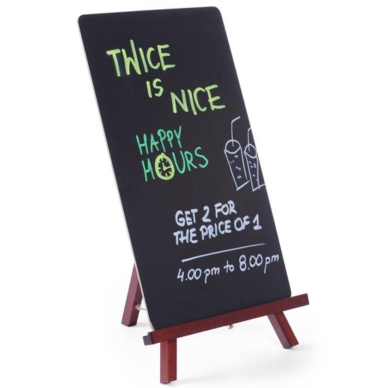Tablica informacyjna reklamowa MENU stojąca na sztaludze do restauracji 220x360mm - Hendi 664070