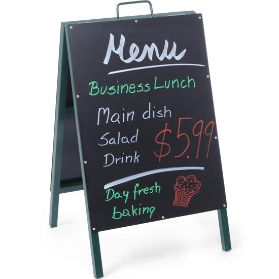 Tablica informacyjna reklamowa MENU wolnostojąca do restauracji 500x850mm - Hendi 664117