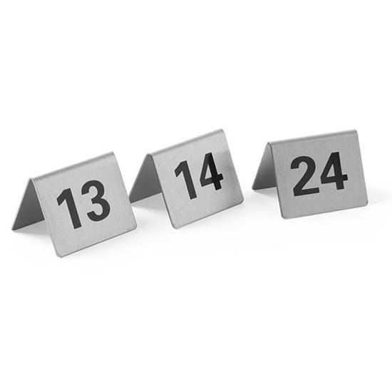 Tabliczka informacyjna NUMER STOLIKA 13-24 stal nierdzewna zestaw 12szt. - Hendi 663851