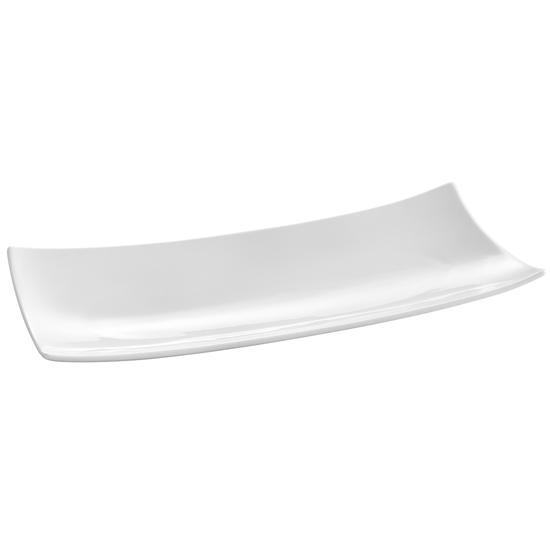 Półmisek dekoracyjny prostokątny taca BARKA 352x146mm biała porcelana - Hendi 785553