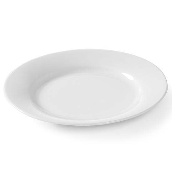 Talerz płytki OPTIMA biała porcelana śr. 240mm zestaw 12szt. - Hendi 770870