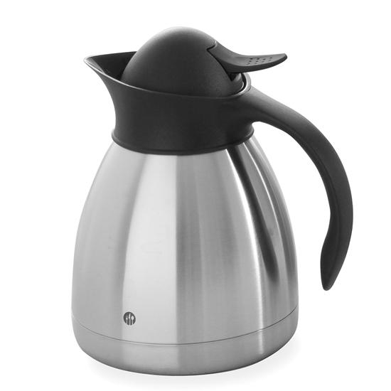 Termos dzbanek termiczny cateringowy do kawy stalowy podwójne ścianki stalowy 1L - Hendi 446508