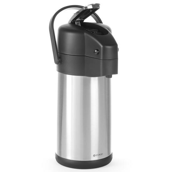 Termos cateringowy stalowy z pompką do napojów gorącyh poj. 3L - Hendi 445877