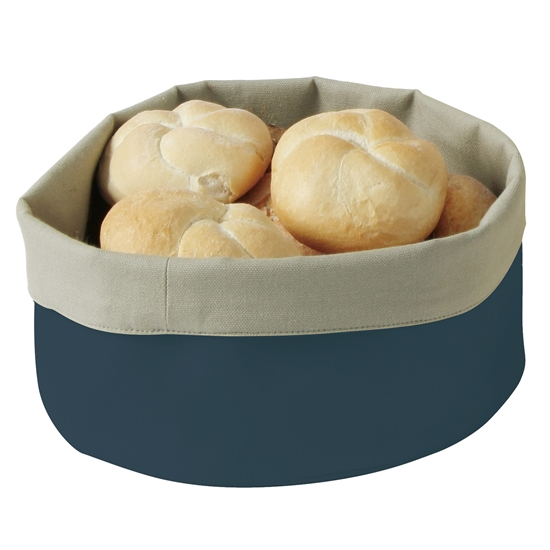 Koszyk worek do pieczywa okrągły śr. 25cm ciemnoniebieski - Hendi 429051