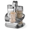 Zestaw do przypraw ze stali nierdzewnej sól pieprz wykałaczki - Hendi 465325