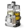 Zestaw do przypraw ze stali nierdzewnej sól pieprz oliwa ocet winny - Hendi 465356