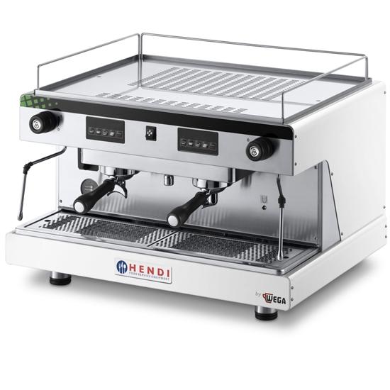 Ekspres kolbowy do kawy Top Line by WEGA 2 grupowy elektroniczny biały 3.7kW