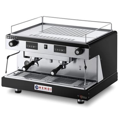Ekspres kolbowy do kawy Top Line by WEGA 2 grupowy elektroniczny czarny 3.7kW