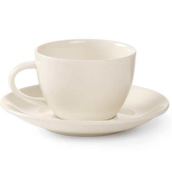 Spodek do filiżanki do kawy z porcelany 210ml śr. 150mm zestaw 6 szt.