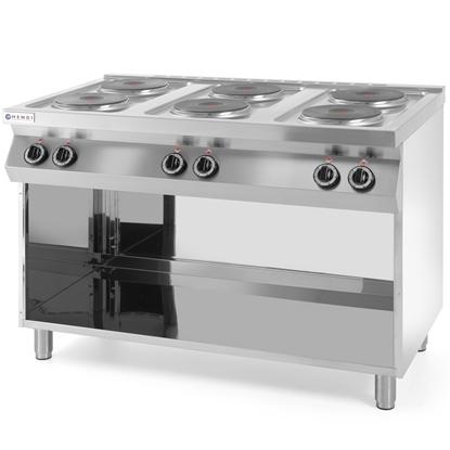 Kuchnia elektryczna wolnostojąca na podstawie stalowej 6 x 2.6kW szer. 120cm