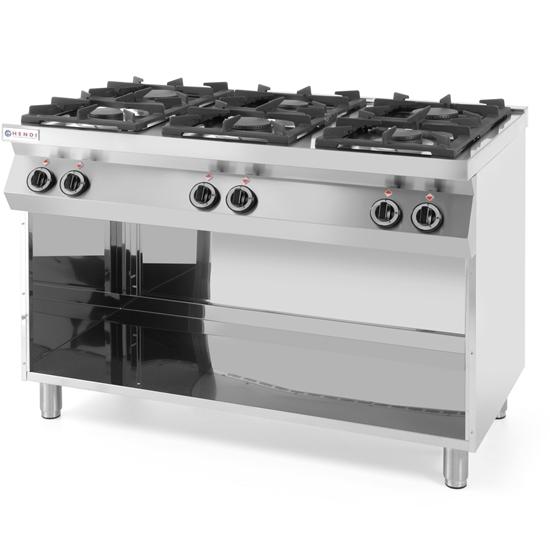 Kuchnia gazowa wolnostojąca na podstawie stalowej 6-palnikowa szer. 120cm