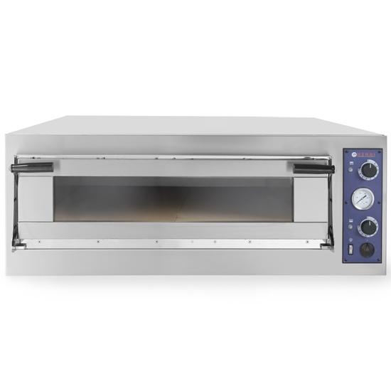 Piec do pizzy i ciasta TRAYS 4 drzwiczki przeszklone blachy piekarnicze 60x40cm 6.9kW 4 pizze śr. 40cm