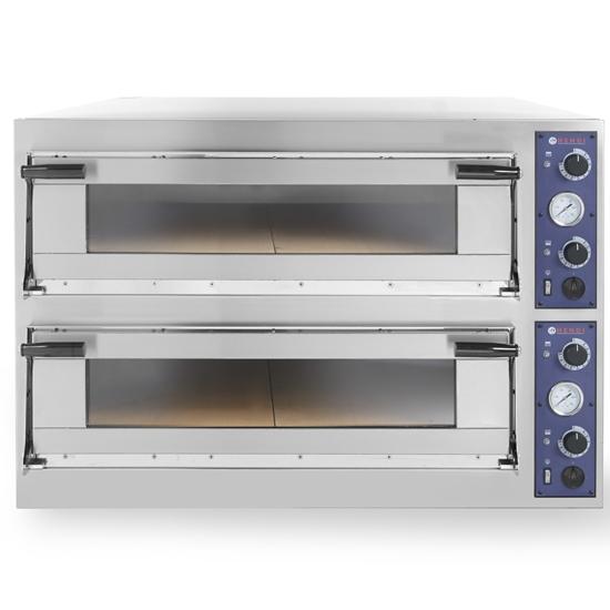 Piec do pizzy i ciasta TRAYS 44 drzwiczki przeszklone blachy piekarnicze 60x40cm 13.8kW 8 pizz śr. 40cm