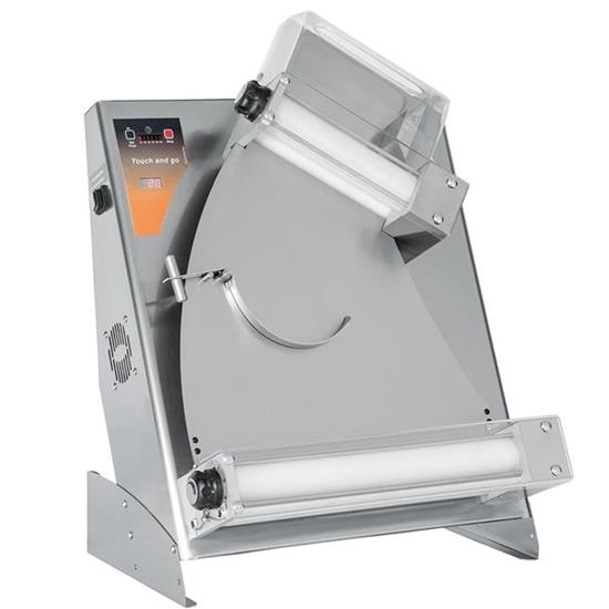 Wałkowanica elektryczna do ciasta na pizze z dwoma parami wałków 370W śr. 40cm
