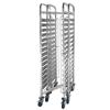 Wózek stalowy do transportu pojemników i tac GN 15 x GN1/1