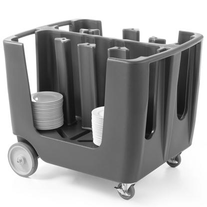 Wózek cateringowy z pokrowcem do transportu talerzy do 300mm
