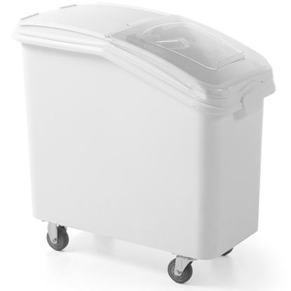 Wózek pojemnik gastronomiczny na kółkach na sypkie produkty żywnościowe poj. 98L
