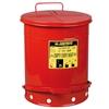 Kosz na odpady łatwopalne i zaolejone czyściwo szmaty - atesty FM / UL poj. 53L