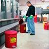 Kosz na odpady łatwopalne i zaolejone czyściwo szmaty - atesty FM / UL poj. 79L