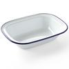 Naczynie prostokątne emaliowane białe 215x160mm Hendi 621219