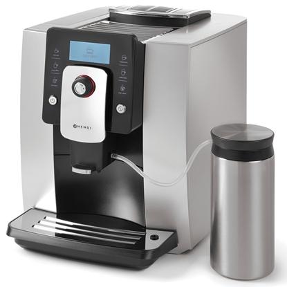 Ekspres do kawy automatyczny One Touch z pojemnikiem na mleko 600ml SREBRNY Hendi 208984