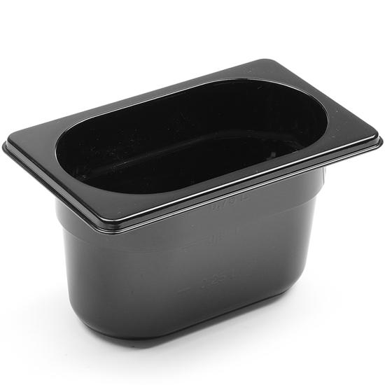 Pojemnik gastronomiczny GN 1/9 z czarnego poliwęglanu 176x162x100mm 1L Hendi 862827