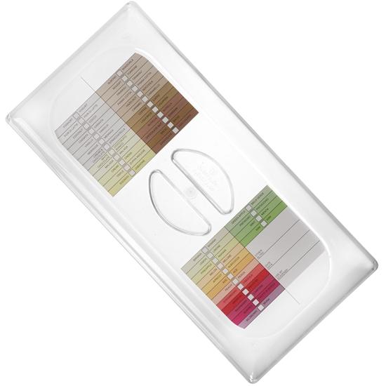 Pokrywka do kuwety do lodów z etykietą ze smakami lodów 360x165mm Hendi 802069