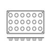 Foremki silikonowe nieprzywierające do pieczenia MINI CANNELAIS BORDELAIS GN 1/3 Hendi 676127