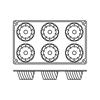 Foremki silikonowe nieprzywierające do pieczenia SAVARIN MINI GN 1/3 Hendi 676134