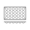Foremki silikonowe nieprzywierające do pieczenia SEMI SPHERE GN 1/3 Hendi 676158