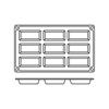 Foremki silikonowe nieprzywierające do pieczenia FINANCIER GN 1/3 Hendi 676141