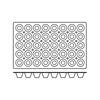 Foremki silikonowe nieprzywierające do pieczenia MINI TARTELETTE GN 1/1 Hendi 676356