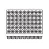 Foremki silikonowe nieprzywierające do pieczenia CANELE BORDELAIS 600x400mm Hendi 676172