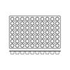 Foremki silikonowe nieprzywierające do pieczenia MINI MUFFINS 600x400mm Hendi 676233
