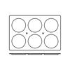 Foremki silikonowe nieprzywierające do pieczenia 6x DISC 600x400mm Hendi 676288