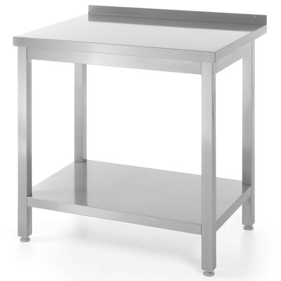 Stół roboczy przyścienny z półką skręcany ze stali nierdzewnej 600x600x(H)850mm Hendi 811306