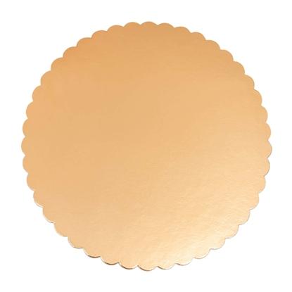 Podkłady pod TORT grube złote foliowane MONTEVERDI śr. 34cm 50szt.