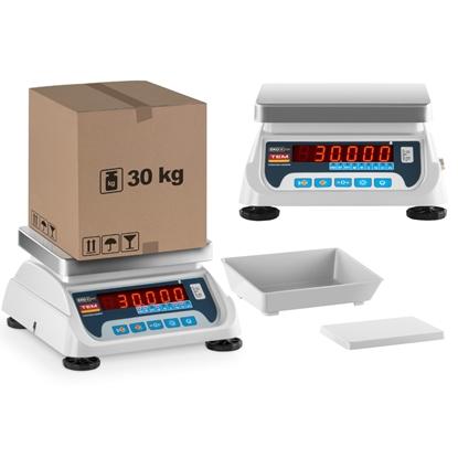 Waga sklepowa handlowa z legalizacją BEKO+ TEM RS232 30kg / 10g