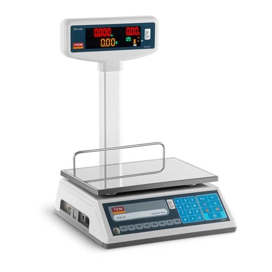 Waga sklepowa cenowa zalegalizowana EGE-LED TEM RS232 15kg / 5g