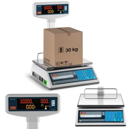 Waga sklepowa cenowa zalegalizowana EGE-LED TEM RS232 30kg / 10g