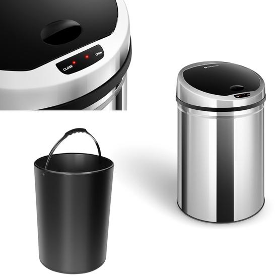 Automatyczny kosz kubeł na śmieci odpadki z czujnikiem ruchu zasięg 30 cm 30 L