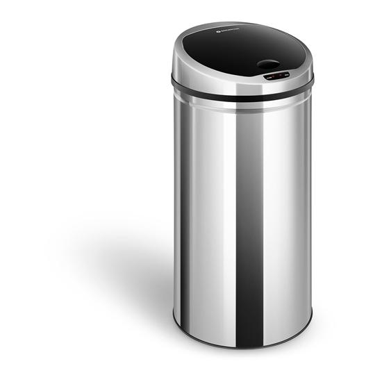 Automatyczny kosz kubeł na śmieci odpadki z czujnikiem ruchu zasięg 30 cm 50 L