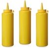 Dyspenser butelka do zimnych sosów zestaw 3szt. - żółty 0.2L - HENDI 558034