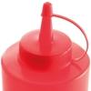Dyspenser butelka do zimnych sosów zestaw 3szt. - czerwony 0.35L - HENDI 557846