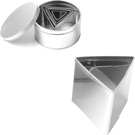 Forma wycinarka cukiernicza do ciasta szablon TRÓJKĄTY - ZESTAW 6szt.  - HENDI 673775