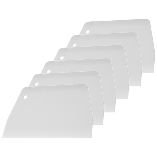 Skrobka cukiernicza do ciasta TRAPEZ 136x97mm - ZESTAW 6szt.  - HENDI 554135