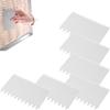 Skrobka cukiernicza prostokątna ząbkowana GRZEBIEŃ - ZESTAW 6szt.  - HENDI 554173