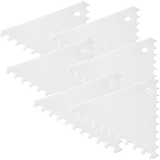 Skrobka cukiernicza trójkątna ząbkowana GRZEBIEŃ WĄSKI ROZSTAW - ZESTAW 6szt.  - HENDI 554210